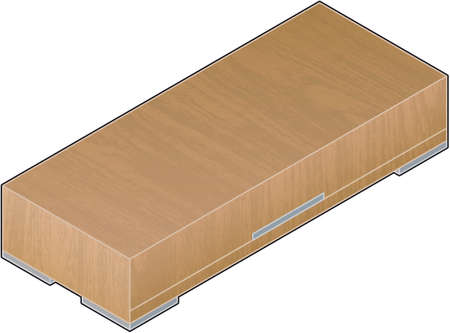 unwanted: Modern Style Large bright Wooden Closet with aluminum finish (isometric style). Its a high resolution image with a CLIPPING PATH for easy remove unwanted shadows underneath.