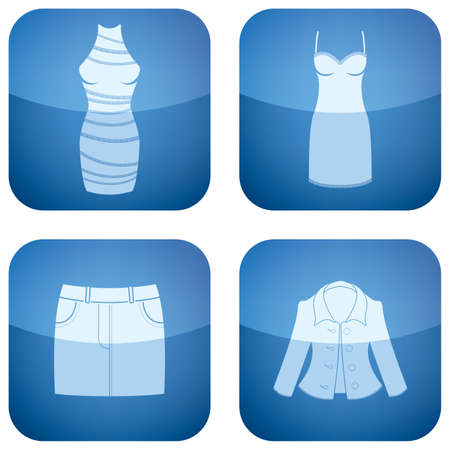 gaine: Cobalt Square 2D Icons Set: Womans Clothing