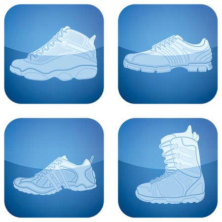 cayak: Cobalt Square 2D Icons Set: Womans Shoes