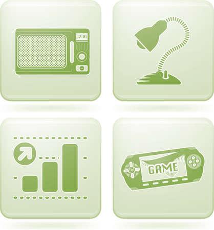 olivine: Olivine Square 2D Icons