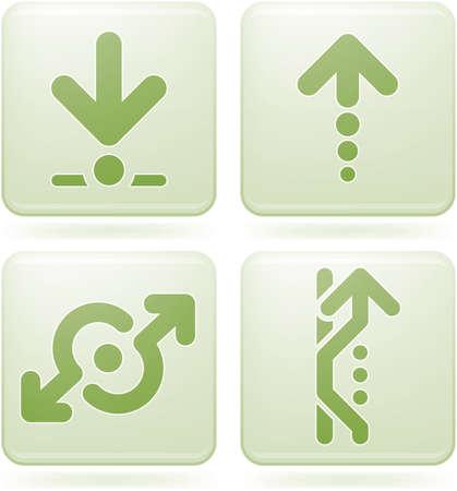 olivine: Set de iconos 2D de olivino Plaza: Arrows Vectores