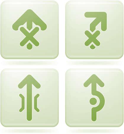 olivine: Conjunto de iconos 2D de olivino Square: las flechas