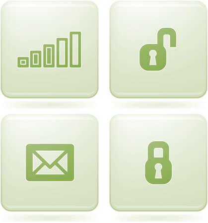 olivine: Conjunto de iconos 2D olivino Square: visualizaci�n de tel�fono  Vectores