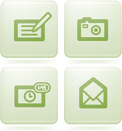 Olivine Square 2D Icons Set: Phone display Vector
