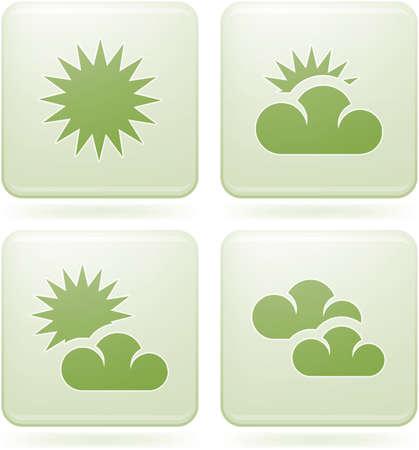 olivine: Conjunto de iconos 2D de olivino Square: Weather