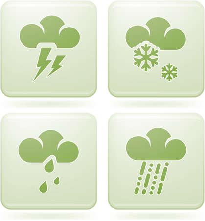 olivine: Olivine Square 2D Icons Set: Weather