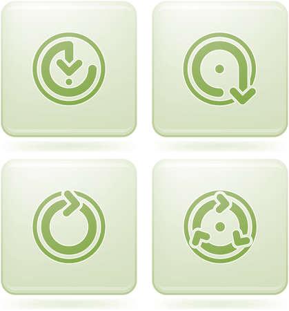 olivine: Olivine Square 2D Icons Set: Arrows