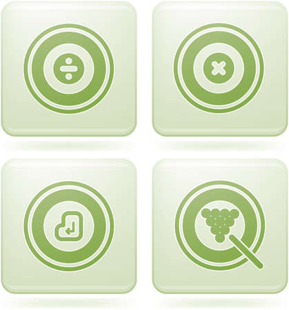 olivine: Set de iconos 2D de olivino Plaza: abstract