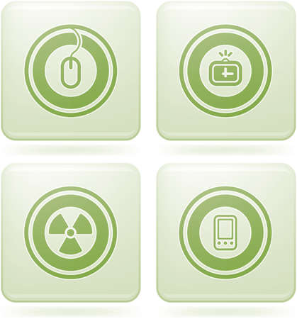 olivine: Olivine Square 2D Icons Set: Abstract