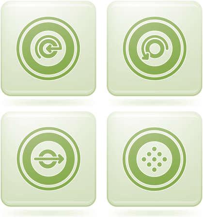 olivine: Conjunto de iconos 2D de olivino Square: Abstract  Vectores