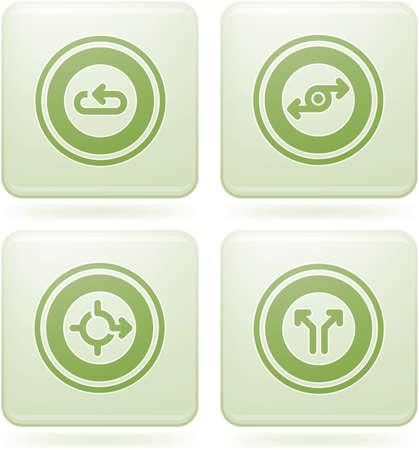 olivine: Set de iconos 2D de olivino Plaza: resumen & direcciones Vectores