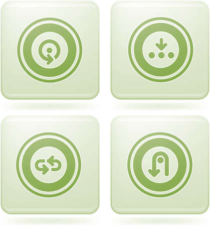 olivine: Olivine Square 2D Icons Set: Abstract & Directions Illustration