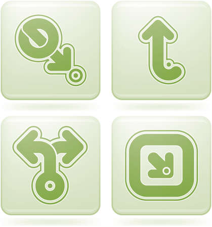 olivine: Conjunto de iconos 2D de olivino Square: resumen de la & direcciones  Vectores