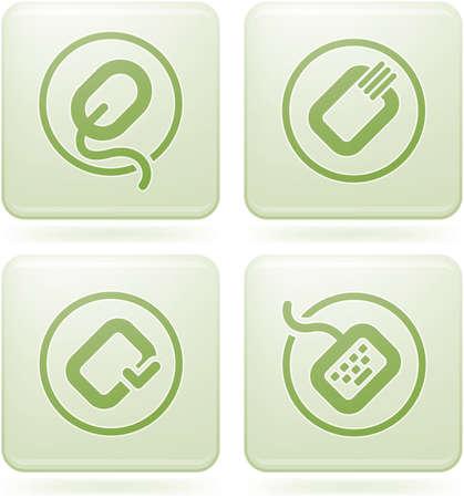 olivine: Set de iconos 2D de olivino Plaza: Computer Stuff