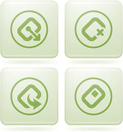 olivine: Olivine Square 2D Icons Set: Computer Stuff Illustration
