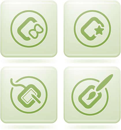 olivine: Conjunto de iconos 2D de olivino Square: Computer Stuff