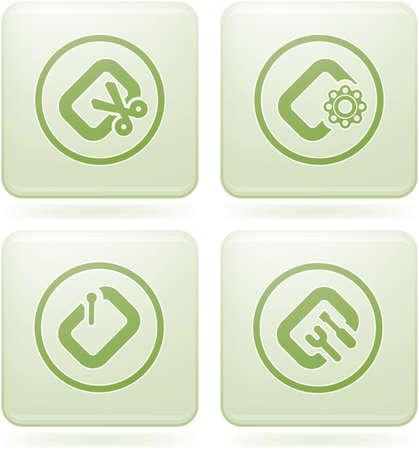 file types: Cobalt Square 2D Icons Set: Computer File Types