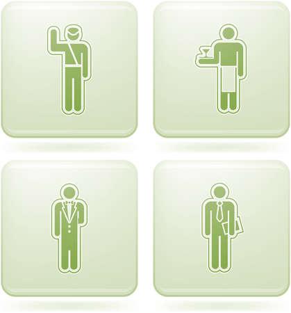 olivine: Conjunto de iconos 2D de olivino Square: ocupaci�n