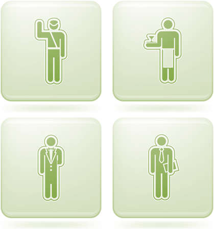 Olivine Square 2D Icons Set: Occupation Vector