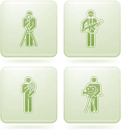 solider: Olivine Square 2D Icons Set: Occupation