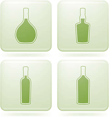 cobalt: Cobalt Square 2D Icons Set: Alcohol bottles