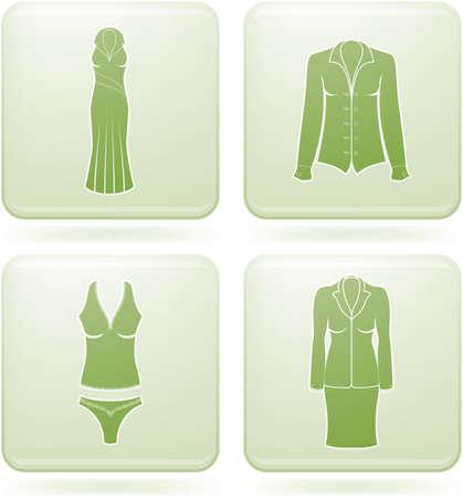 undergarment: Olivine Square 2D Icons Set: Womans Clothing