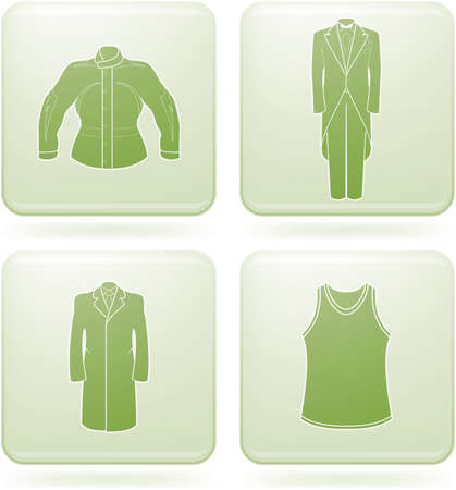 olivine: Olivine Square 2D Icons Set: Mans Clothing