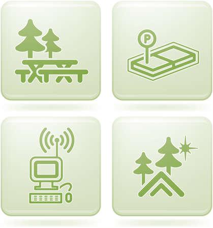 Olivine 2D Squared Set: Camping Vector