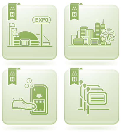 Various hotel icons