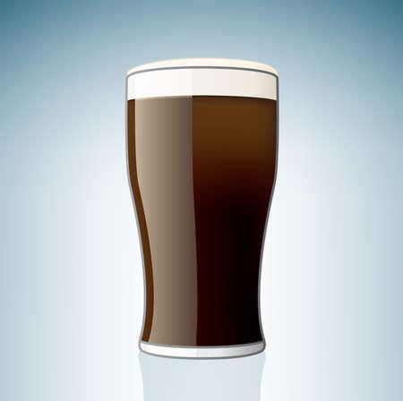 beer pint: Cerveza cristal (parte del set de iconos de vidrio de alcohol)  Vectores