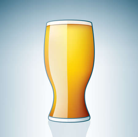 Light Beer Glass (part of the Alcohol Glass Icons Set) Stock Vector - 7214224