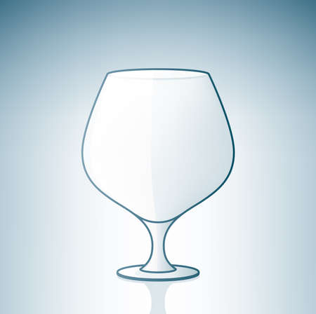 sniffer: Empty BrandyCogniac sniffers (part of the Alcohol Glass Icons Set) Illustration