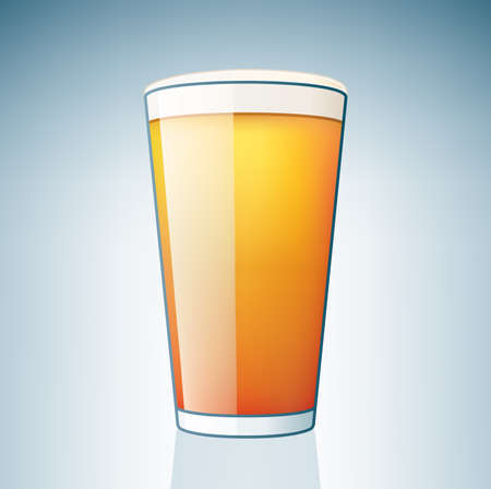 dark lager: Light Beer Glass (part of the Alcohol Glass Icons Set)