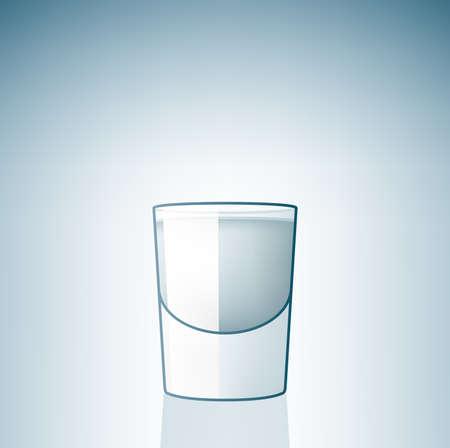 sparare: Vetro di sparare vodka (parte del Set di icone alcol vetro)