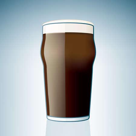 schwarzbier: Dunkle Beer Glass (Teil des Alkohol Glass Icons Set)