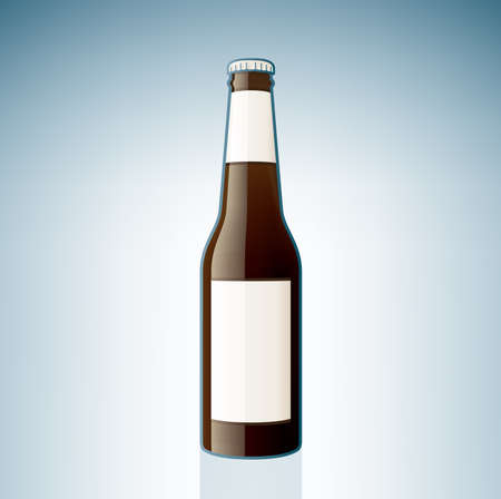 dark lager: Brown Beer Bottle (part of the Alcohol Glass Icons Set)