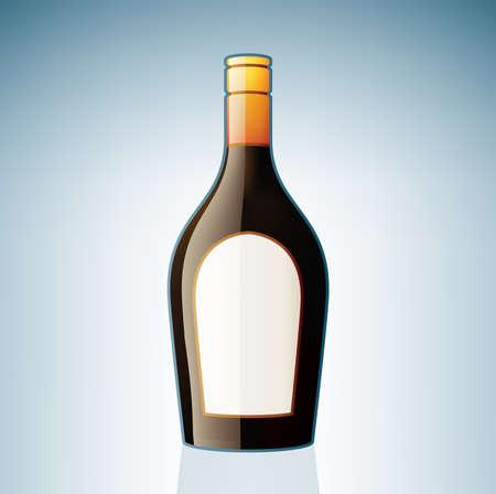liqueur: Brown Liqueur Bottle (part of the Alcohol Glass Icons Set)