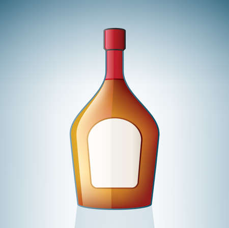 Brandy Bottle (part of the Alcohol Glass Icons Set) Stock Vector - 7247347