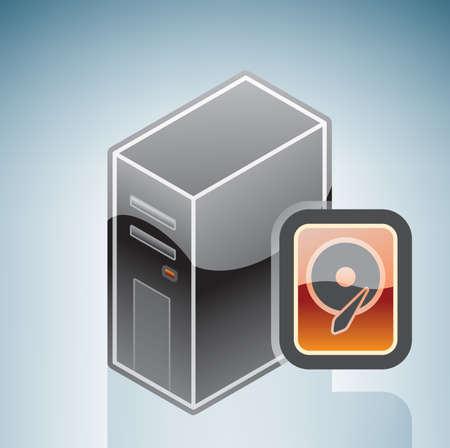 hard drive: Computer Hard Disk Drive Illustration