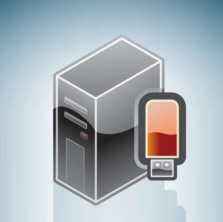 pendrive: Computer USB Pendrive Illustration
