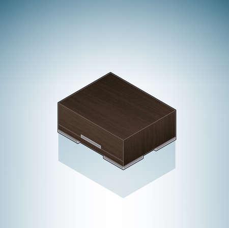 Furniture: Bedroom Night Stand Stock Vector - 7356554