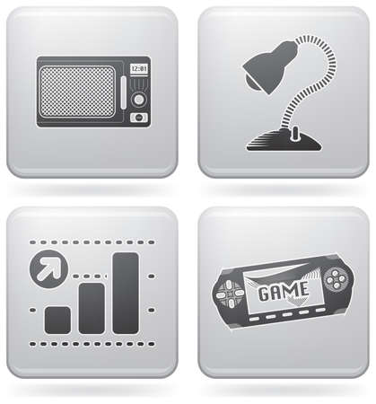 console table: Miscellaneous everyday icons Illustration