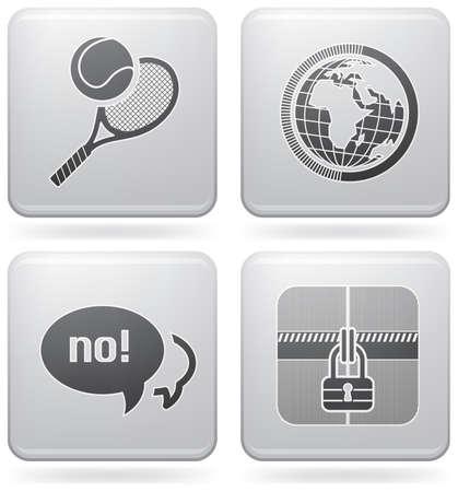 racket: Miscellaneous everyday icons Illustration