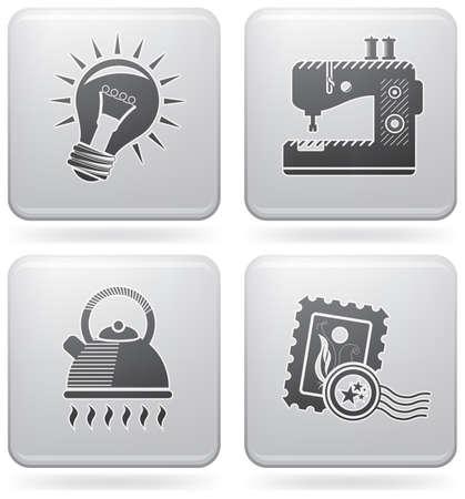 mindennapi: Miscellaneous everyday icons Illusztráció