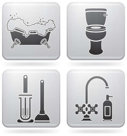 bathroom icon: Bathroom Utensils Illustration