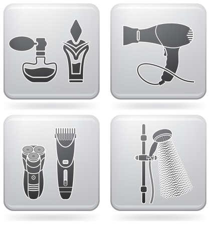 toilette: Bathroom Utensils Illustration
