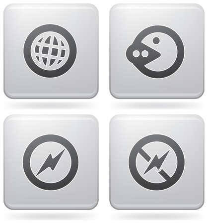 A Display Phone Custom Squared Icons Vector