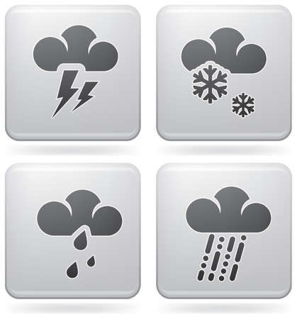 Miscellaneous weather icons Vector