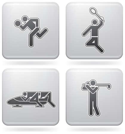 bobsleigh: Sports figures Illustration