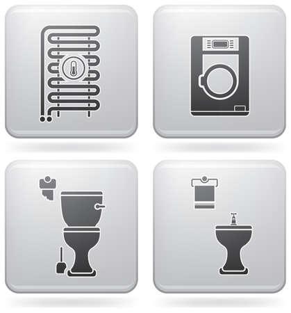 Bathroom theme icons Vector